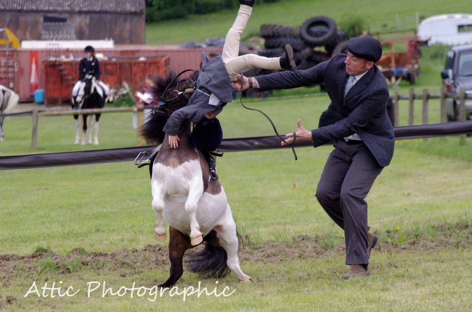 Una caída de caballo cualquiera la tiene...